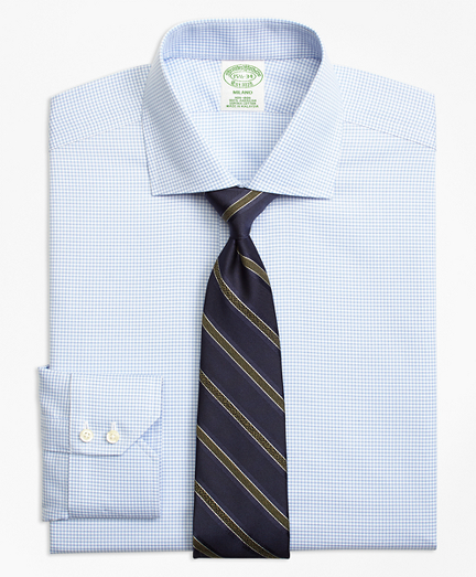 Milano Slim-Fit Dress Shirt, Non-Iron Micro-Check
