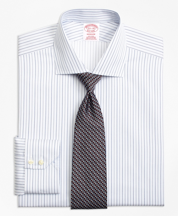 Madison Classic-Fit Dress Shirt, Non-Iron Framed Music Stripe