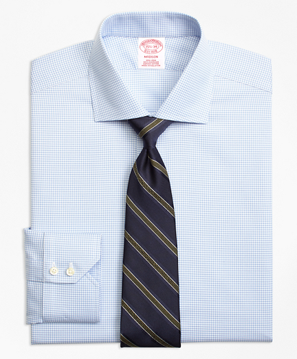 Madison Classic-Fit Dress Shirt, Non-Iron Micro-Check