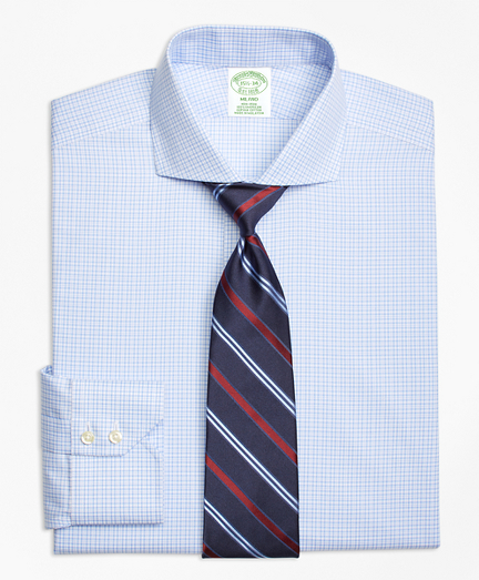 Milano Slim-Fit Dress Shirt, Non-Iron Framed Tattersall