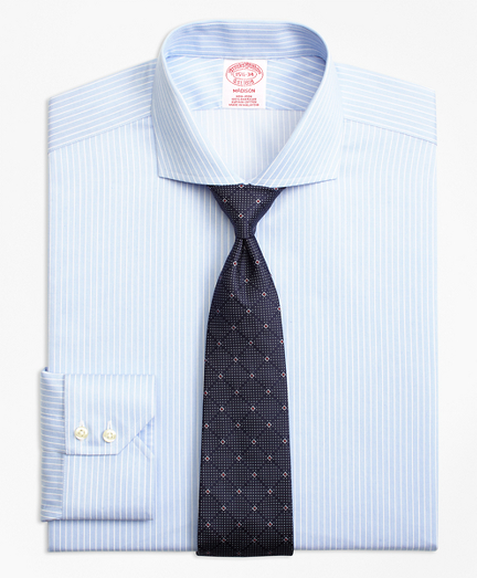 Madison Classic-Fit Dress Shirt, Non-Iron Hairline Framed Stripe