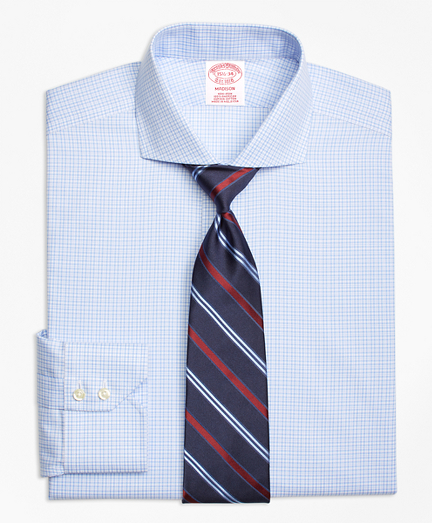 Madison Classic-Fit Dress Shirt, Non-Iron Framed Tattersall