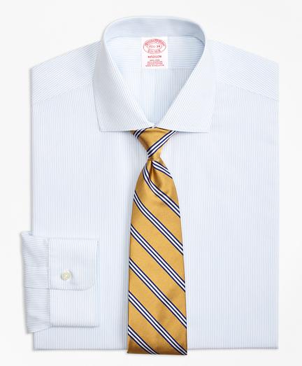 Madison Classic-Fit Dress Shirt, Non-Iron Mini Pinstripe
