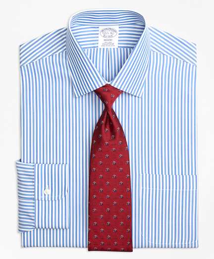 Regent Fitted Dress Shirt, Non-Iron Tonal Bengal Stripe