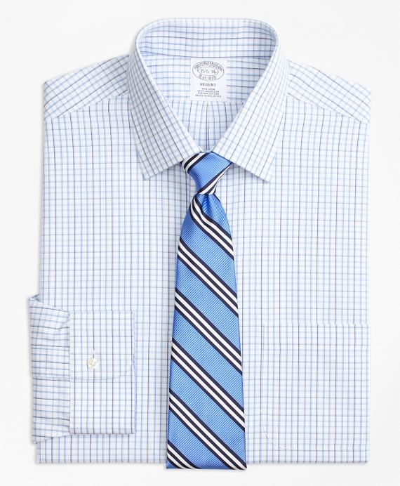 Regent Fitted Dress Shirt, Non-Iron Tonal Check Windowpane