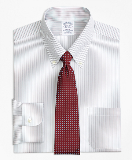 Regent Fitted Dress Shirt, Non-Iron Tonal Stripe