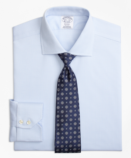 Regent Fitted Dress Shirt, Non-Iron Textured Solid