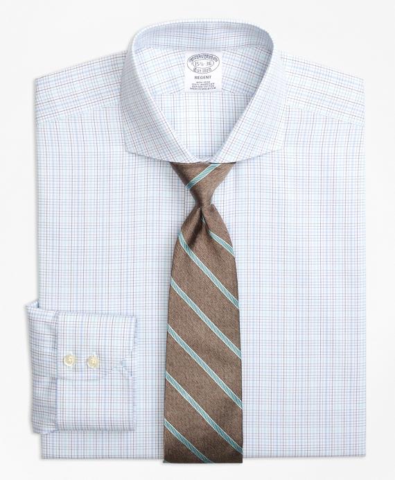 Regent Fitted Dress Shirt, Non-Iron BB#1 Micro-Check Aqua