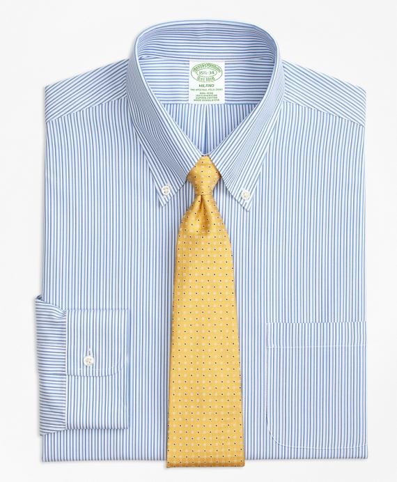 Milano Slim-Fit Dress Shirt, Non-Iron Tonal Stripe Blue