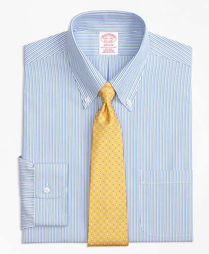 Madison Classic-Fit Dress Shirt, Non-Iron Tonal Stripe