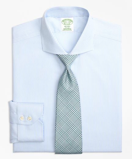 Milano Slim-Fit Dress Shirt, Non-Iron Alternating Stripe
