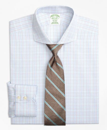 Milano Slim-Fit Dress Shirt, Non-Iron BB#1 Micro-Check