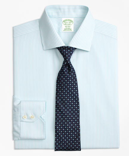 Milano Slim-Fit Dress Shirt, Non-Iron Stripe