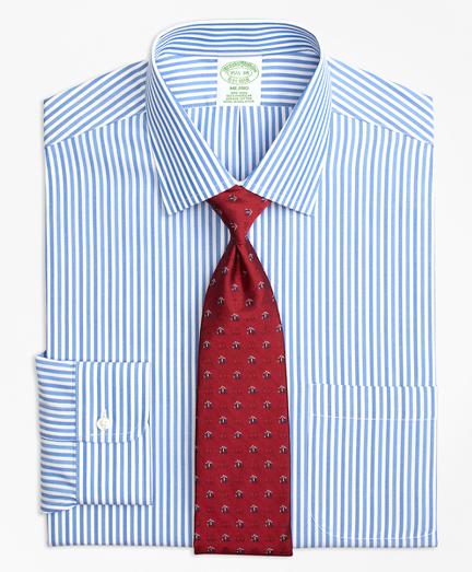Milano Slim-Fit Dress Shirt, Non-Iron Tonal Bengal Stripe