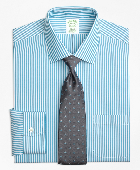 Milano Slim-Fit Dress Shirt, Non-Iron Tonal Bengal Stripe