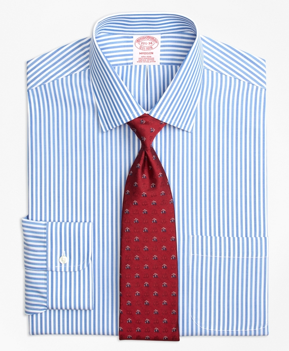 Madison Classic-Fit Dress Shirt, Non-Iron Tonal Bengal Stripe