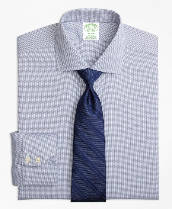 Milano Slim-Fit Dress Shirt, Non-Iron Textured Solid