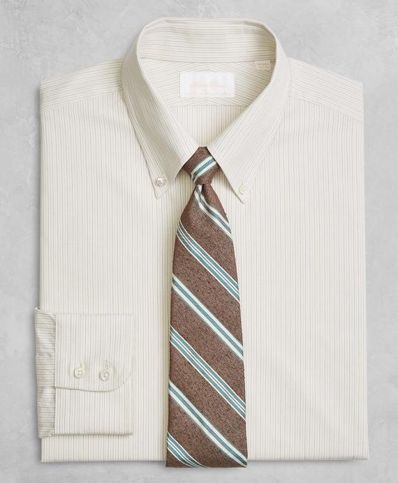 Golden Fleece® Milano Slim-Fit Dress Shirt, Button-Down Collar Alternating Dot Stripe