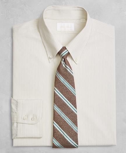 Golden Fleece® Regent Fitted Dress Shirt, Button-Down Collar Alternating Dot Stripe