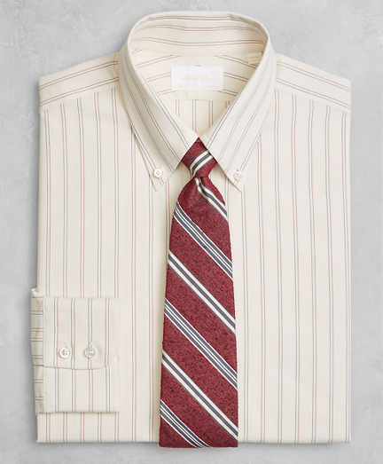 Golden Fleece® Regent Fitted Dress Shirt, Button-Down Collar Dobby Split Stripe