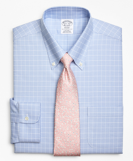 BrooksCool® Regent Fitted Dress Shirt, Non-Iron Ground Check