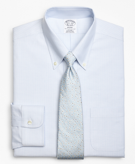 BrooksCool® Regent Fitted Dress Shirt, Non-Iron Tonal Alternating Stripe
