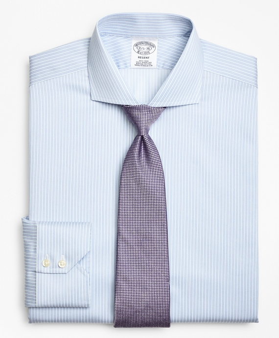 Regent Fitted Dress Shirt, Non-Iron Framed Stripe