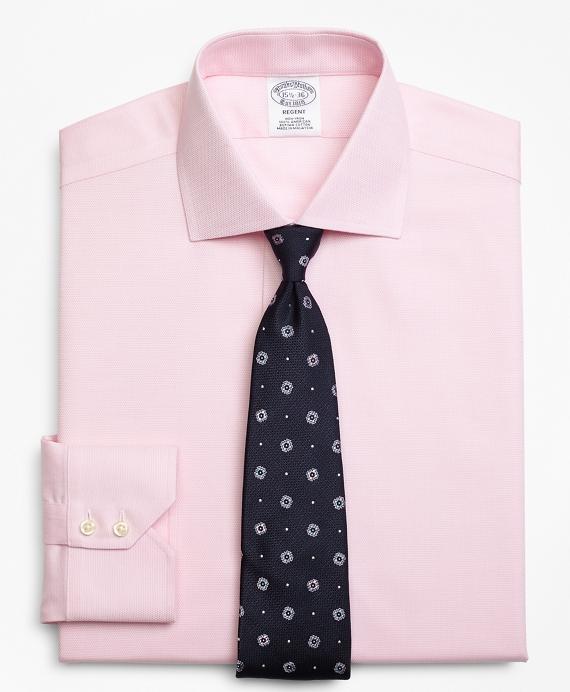 Regent Fitted Dress Shirt, Non-Iron Textured Circles Pink