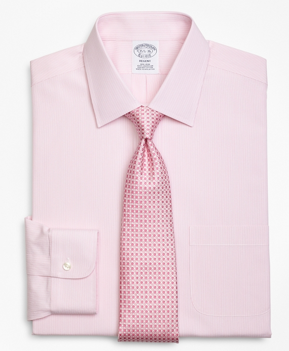 Regent Fitted Dress Shirt, Non-Iron Tonal Framed Stripe