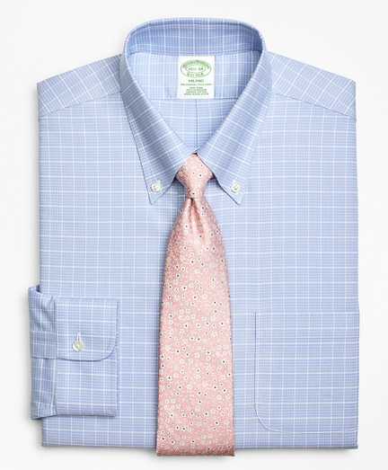 BrooksCool® Milano Slim-Fit Dress Shirt, Non-Iron Ground Check