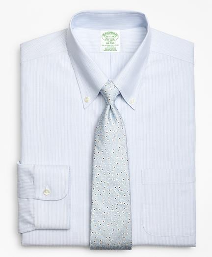 BrooksCool® Milano Slim-Fit Dress Shirt, Non-Iron Tonal Alternating Stripe