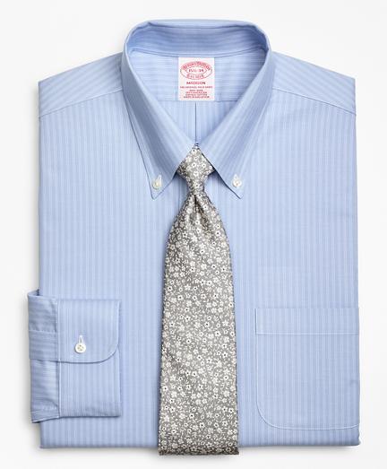 BrooksCool® Madison Classic-Fit Dress Shirt, Non-Iron Ground Double-Stripe