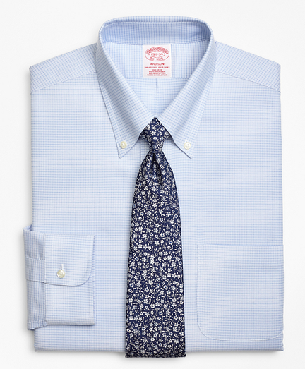 BrooksCool® Madison Classic-Fit Dress Shirt, Non-Iron Ground Micro-Check
