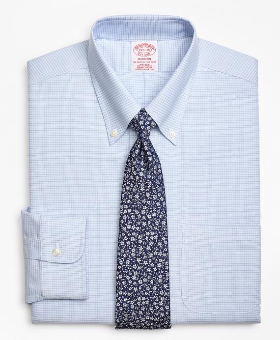 BrooksCool® Madison Classic-Fit Dress Shirt, Non-Iron Ground Micro-Check