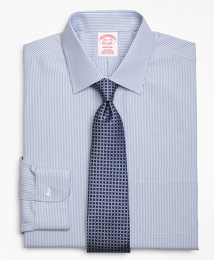 Madison Classic-Fit Dress Shirt, Non-Iron Tonal Framed Stripe