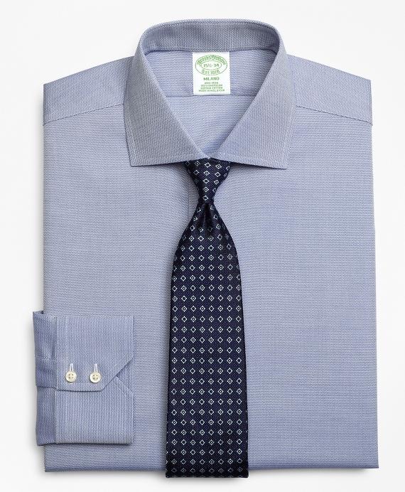 Milano Slim-Fit Dress Shirt, Non-Iron Textured Circles Blue