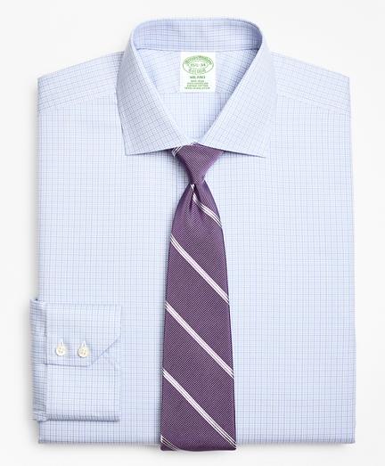 Milano Slim-Fit Dress Shirt, Non-Iron Two-Tone Graph Check