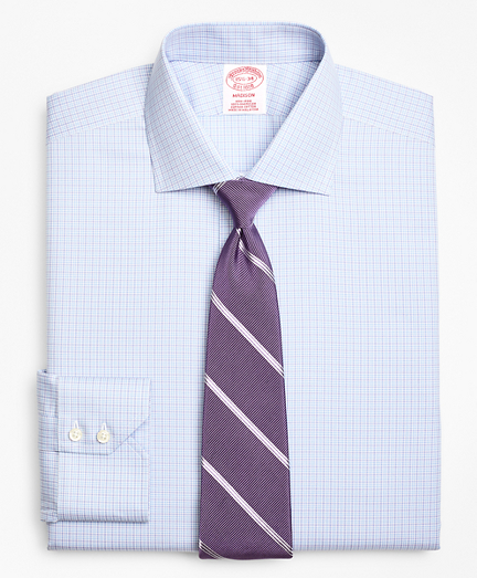 Madison Classic-Fit Dress Shirt, Non-Iron Two-Tone Graph Check
