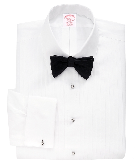 Madison Fit Ten-Pleat Tennis Collar Tuxedo Shirt