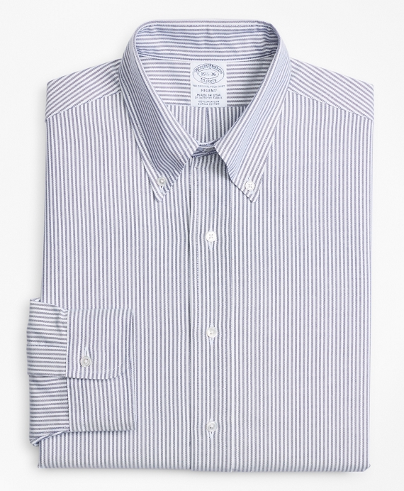 Original Polo® Button-Down Oxford Regent Fitted Dress Shirt, Candy Stripe Blue