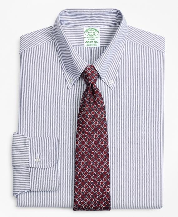 Original Polo® Button-Down Oxford Milano Slim-Fit Dress Shirt, Candy Stripe Blue