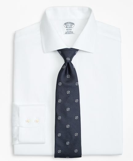 Regent Fitted Dress Shirt, Non-Iron Herringbone