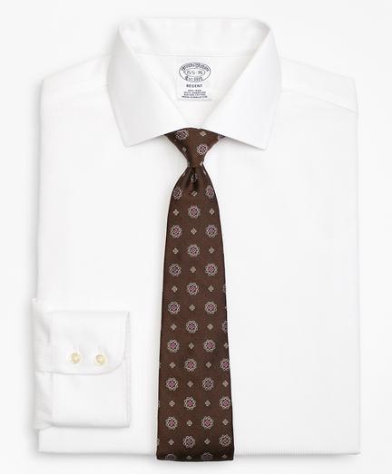 Regent Fitted Dress Shirt, Non-Iron Textured Stripe