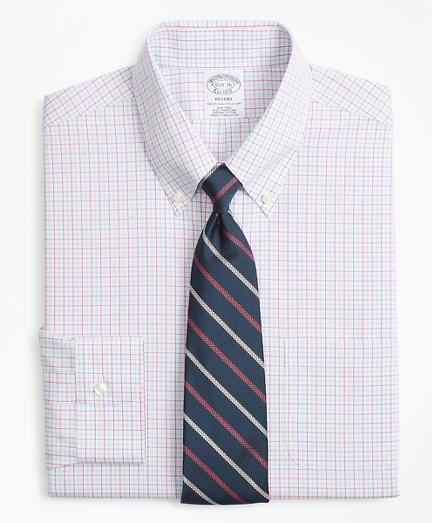 Regent Fitted Dress Shirt, Non-Iron Triple Overcheck