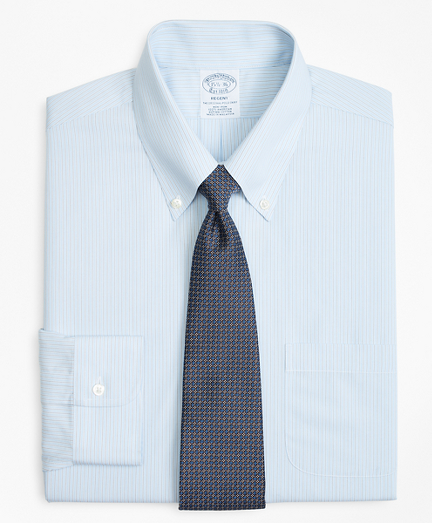 Regent Fitted Dress Shirt, Non-Iron Hairline Alternating Stripe