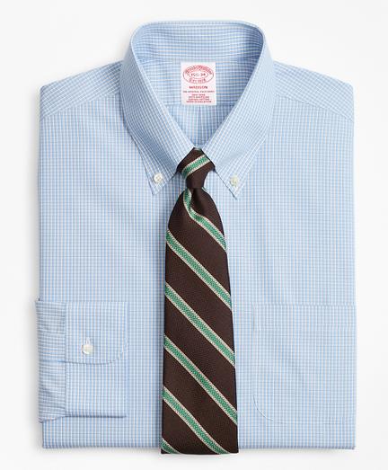 Madison Classic-Fit Dress Shirt, Non-Iron Sidewheeler Gingham