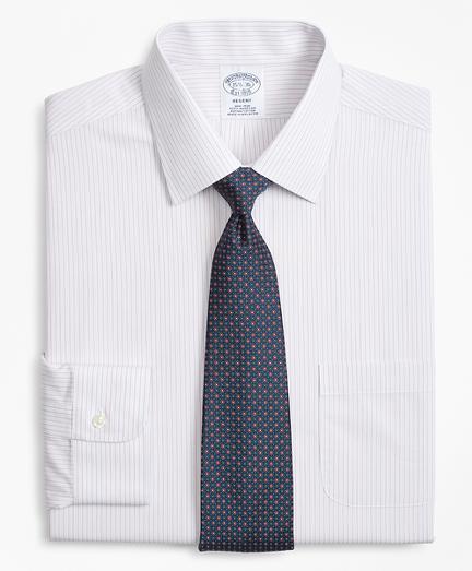 Regent Fitted Dress Shirt, Non-Iron Mini Alternating Stripe