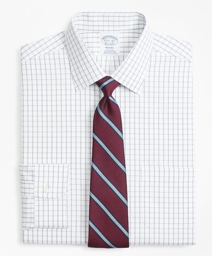 Regent Fitted Dress Shirt, Non-Iron Overcheck Windowpane
