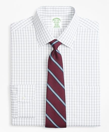 Milano Slim-Fit Dress Shirt, Non-Iron Overcheck Windowpane