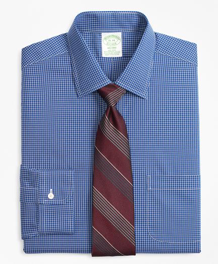 Stretch Milano Slim-Fit Dress Shirt, Non-Iron Ground Check